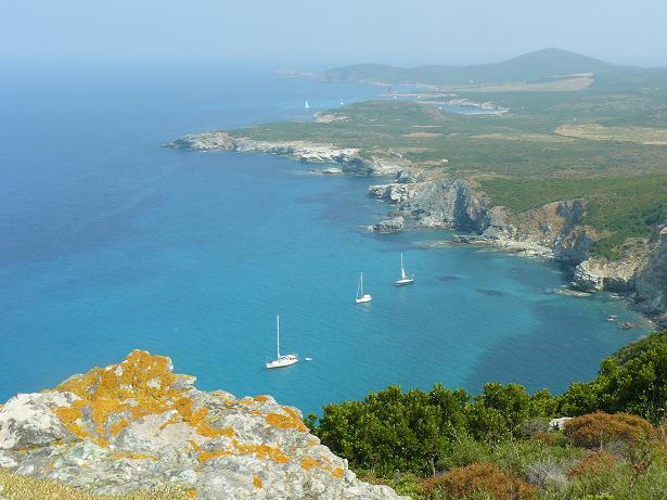vue montagne mer en Corse