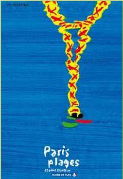 affiche paris plage 2010