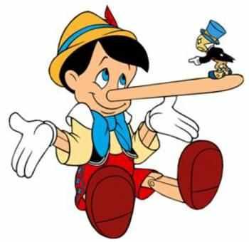 mensonge pinocchio et son nez long