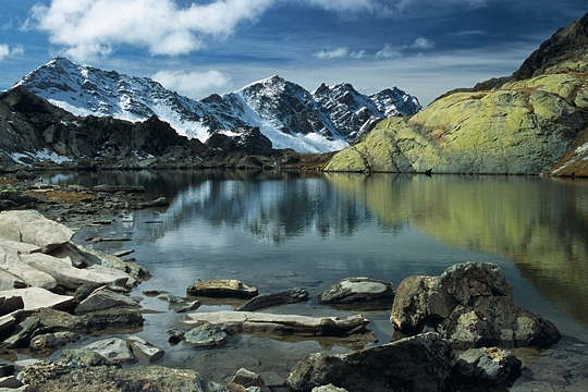 premieres neiges alpes lac