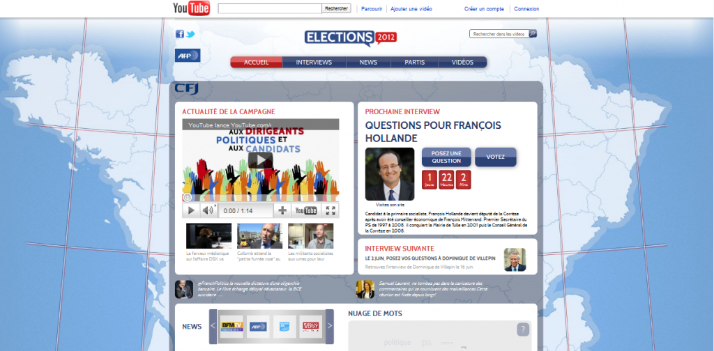 elections 2012 campagne 2.0 sur youtube