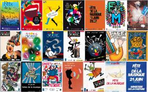affiches officielles de la fête de la musique