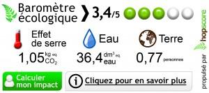 barometre écologique affichage environnemental hop-cube