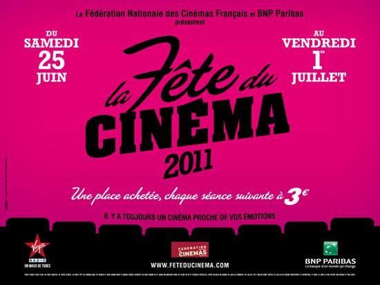 affiche fête du cinéma 2011 Juin Juillet 2011