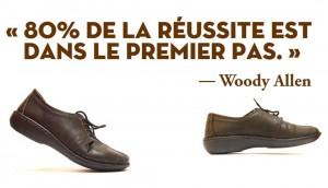 80% de la réussite est dans le premier pas - Woody Allen